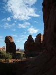 Looking back from Double Arch
